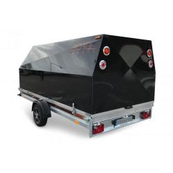 Boro Skotervagn med svart aluminiumkåp