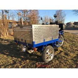 Lastkorg i aluminium 40cm, MGB Delivery (OBS! Plåten är ohålad på de förhöjningslemmar som säljes nu!)