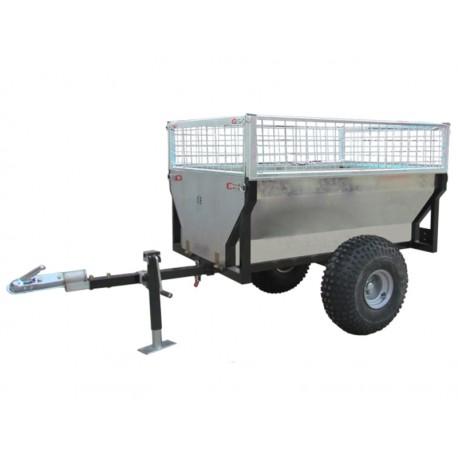Gårdsvagnen med galler och stödben