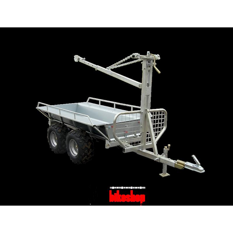 Timmervagn med  kran & flak